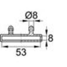 Латодержатель пластиковый накладной для лат сечением 8х53 мм.