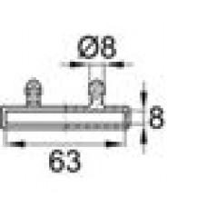 Латодержатель пластиковый накладной для лат сечением 8х63 мм.