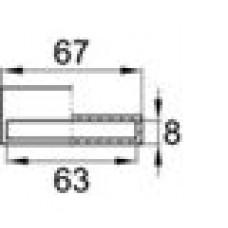 Латодержатель пластиковый пристреливающийся для лат сечением 8х63 мм.