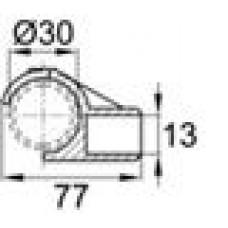 Латодержатель пластиковый для лат сечением 13х62 с креплением на трубу круглого сечения с внешним диаметром 30 мм.