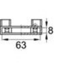 Латодержатель пластиковый упорный для лат сечением 8х63 мм.