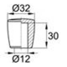 Пластиковая заглушка для труб-прутков диаметром 12 мм.