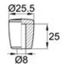 Пластиковая заглушка для труб-прутков диаметром 8 мм.
