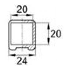 Наконечник пластиковый для труб квадратного сечения с внешними габаритами 20х20 мм