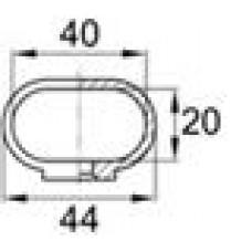 Наконечник пластиковый для труб овального сечения с внешними габаритами 20х40 мм