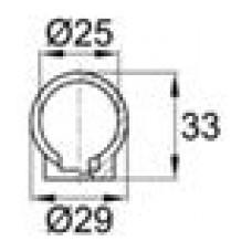 Наконечник пластиковый для труб круглого сечения с внешним диаметром 25 мм.