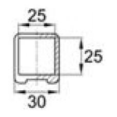 Наконечник пластиковый для труб квадратного сечения с внешними габаритами 25х25 мм
