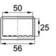 Опора пластиковая наружная для труб прямоугольного сечения с внешними габаритами 25х50 мм