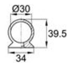 Наконечник пластиковый для труб круглого сечения с внешним диаметром 30 мм