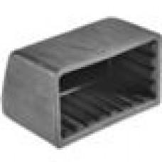 Опора пластиковая наружная под трубу прямоугольного сечения с внешними габаритами 30х60 мм
