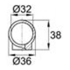 Наконечник пластиковый для труб круглого сечения с внешним диаметром 32 мм