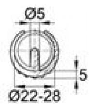 Опора пластиковая универсальная для трубы круглого сечения с внешним диаметром 22-25 мм, с выступом для фиксации