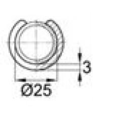 Опора пластиковая универсальная для трубы круглого сечения с внешним диаметром 25 мм
