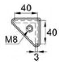 Опора пластиковая с резьбовым отверстием M8 для равнополочных уголков 35x35 или 40х40 мм.