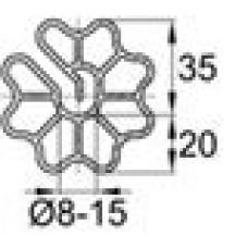 Пластиковый фиксатор для арматуры «звездочка». Образует защитный слой толщиной 20 мм
