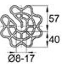 Пластиковый фиксатор для арматуры «звездочка», защитный слой толщиной 40 мм.