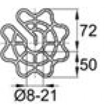 Пластиковый фиксатор для арматуры «звездочка», защитный слой толщиной 50 мм.