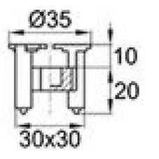 Пластиковый фиксатор для арматуры, защитный слой 20 мм. Диаметр арматуры — 4-14 мм.