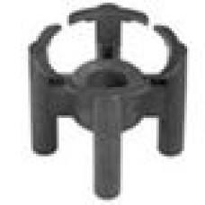 Пластиковый фиксатор для арматуры, защитный слой 25 мм. Диаметр арматуры — 4-14 мм.