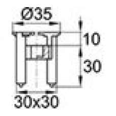 Пластиковый фиксатор для арматуры, защитный слой 30 мм. Диаметр арматуры — 4-14 мм.