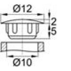 Заглушка пластиковая с тонкой шляпкой 12 мм для отверстия диаметром 10 мм.
