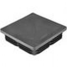 Заглушка пластиковая квадратная 100х100, практичная, чёрная