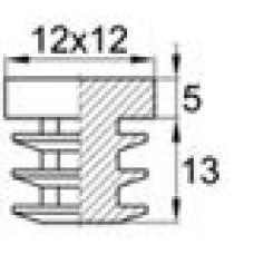 Заглушка пластиковая внутренняя с толстой шляпкой для труб квадратного сечения 12х12 мм