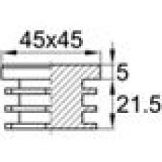 Заглушка пластиковая внутренняя с толстой шляпкой для труб квадратного сечения 45х45 мм