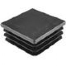 Заглушка пластиковая внутренняя с толстой шляпкой для труб квадратного сечения 80х80 мм.