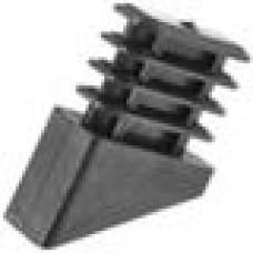 Опора пластиковая внутренняя с ребрами для труб прямоугольного сечения с внешними габаритами сечения 15х30 мм и c наклоном шляпки 30 градусов