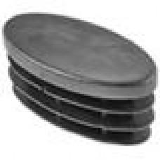 Заглушка пластиковая внутренняя с толстой плоской шляпкой для труб с сечением в форме эллипса с внешними габаритами сечения 30х60 мм