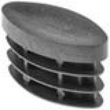 Заглушка пластиковая внутренняя с толстой плоской шляпкой для труб с сечением в форме эллипса с внешними габаритами сечения 20х40 мм