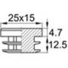 Заглушка пластиковая внутренняя для труб овального сечения с внешними габаритами сечения 12х25 мм