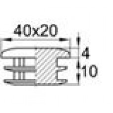 Заглушка пластиковая внутренняя для труб овального сечения с внешними габаритами сечения 20х40 мм