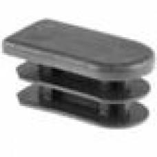 Заглушка пластиковая внутренняя для труб полуовального сечения с внешними габаритами сечения 15х30 мм