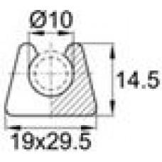 Подпятник пластиковый для труб или прутков круглого сечения с внешним диаметром сечения 10 мм