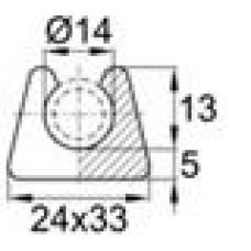 Подпятник пластиковый для труб или прутков круглого сечения с внешним диаметром сечения 14 мм