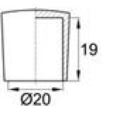 Заглушка пластиковая наружная для труб круглого сечения с внешним диаметром сечения 20 мм и любой толщиной стенки.