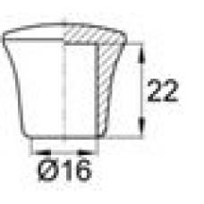 Опора пластиковая наружная для труб круглого сечения с внешним диаметром 16 мм