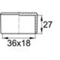Заглушка пластиковая наружная для труб овального сечения с внешними габаритами сечения 18х36 мм