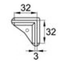 Опора пластиковая для равнополочных уголков с размером 32х32x3