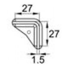 Опора пластиковая для равнополочных уголков с размером 27х27x1.5