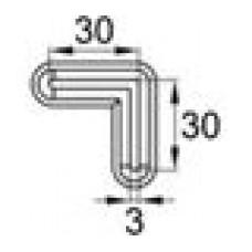 Опора пластиковая для равнополочных уголков с размером 30х30