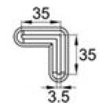 Опора пластиковая для равнополочных уголков с размером 35х35