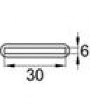 Заглушка пластиковая для пластины сечением 30х6 мм