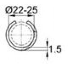 Подпятник пластиковый для труб с внешним диаметром сечения 22-25 мм