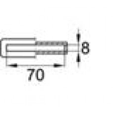 Латодержатель пластиковый врезной для лат сечением 8х70 мм.