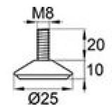 Опора резьбовая с металлическим резьбовым стержнем М8х20.