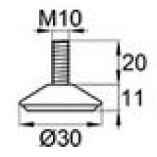 Опора резьбовая с металлическим резьбовым стержнем М10х20.