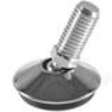 Опора резьбовая, шарнирная с круглым, хромированным основанием диаметром 50 мм и металлической резьбой М10х30.